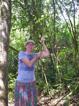 Jane of the jungle grabs a handy vine