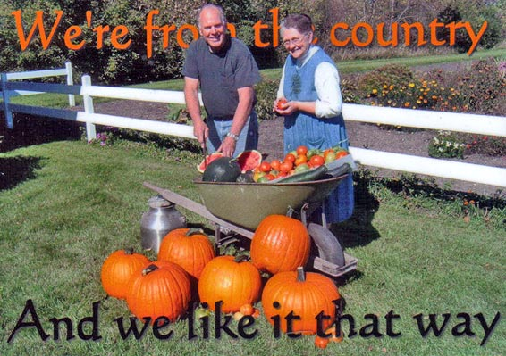 Dwight & Janie harvest pumpkins