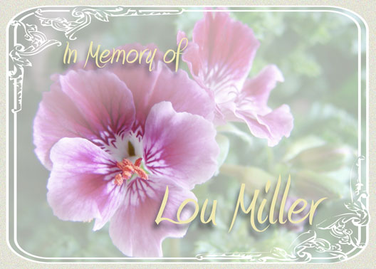 In memory of Lou Miller
