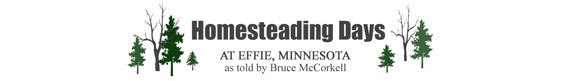 Homesteading Days at Effie, Minnesota, as toldby Bruce McCorkell