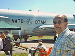 Frans before a NATO AWACS plane.